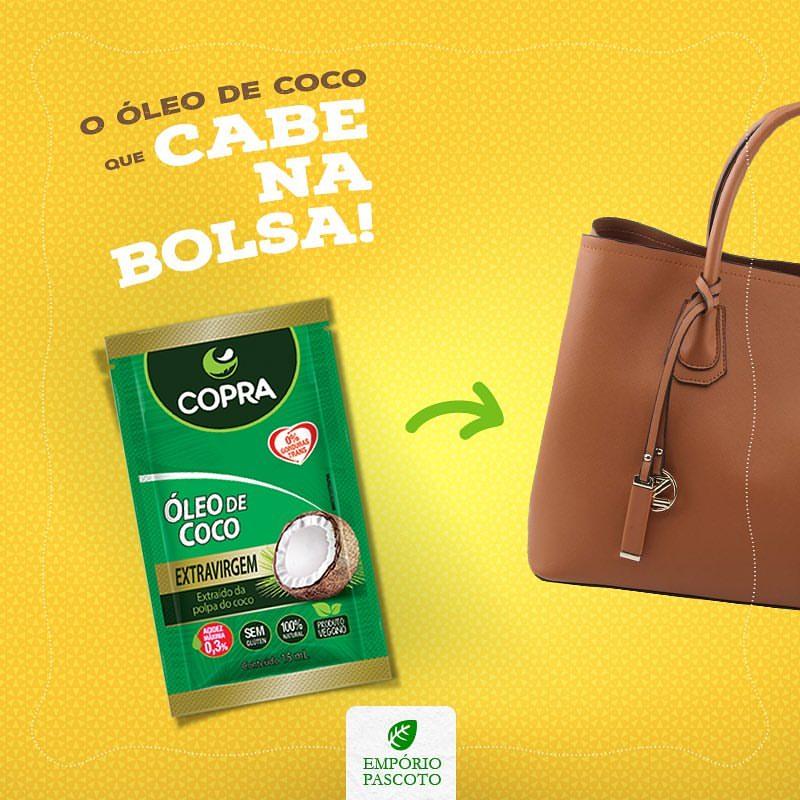 Óleo de Coco que cabe na sua bolsa