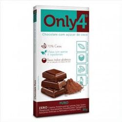 Chocolate com Açúcar de Coco Puro - Only4 - 80g