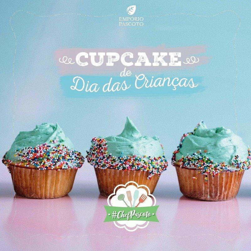 Receita de Cupcake Dia das Crianças