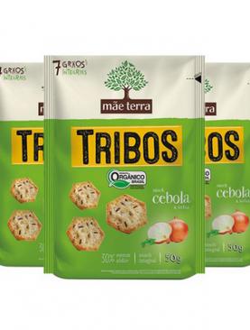 Biscoito Tribos Orgânico - Cebola e Salsa - Mãe Terra - 50g