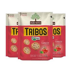 Biscoito Tribos Orgânico - Tomate e Manjericão - Mãe Terra - 50g