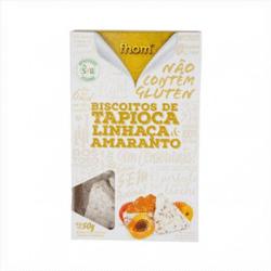 Biscoito de Tapioca Linhaça e Amaranto - Fhom - 50g