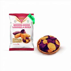 Chips de Batata Doce Laranja e Roxa
