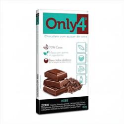 Chocolate com Açúcar de Coco Nubs - Only4 - 80g