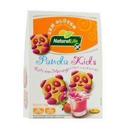 Biscoito Panda Kids - Leite com Morango - Zero Lactose - Kodilar - 100g