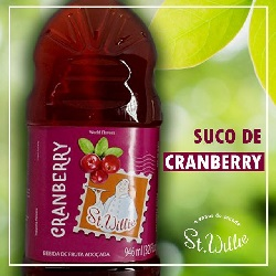 Suco de Cranberry - Sem Açúcar - ST Willie - 946ml